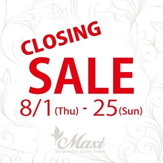 マロニエゲート銀座2店 CLOSING SALEのお知らせ